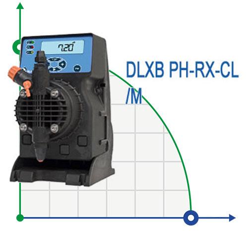 Дозировочный насос DLXB PH-RX-CL/M с встроенным контроллером рН / Rx / CL
