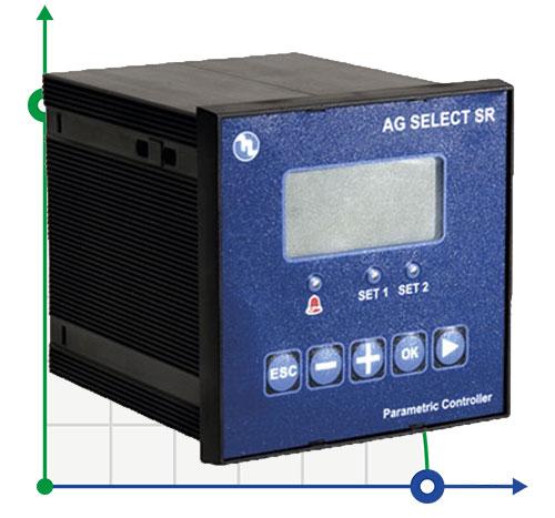 Щитовой контроллер eSELECT-SR уровня pH, Rx, хлора CL, проводимости CD