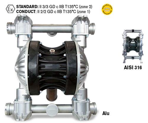 Мембранный насос высокой производительности BOXER 502 Metal - Мембранный металлический насос BOXER 502 Metal