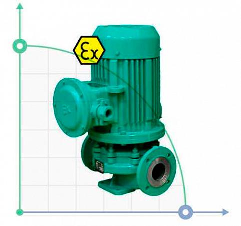 Насосы с сухим ротором из нержавеющей стали IHG Ex (взрывозащищенный)